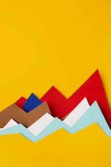 종이로 차트 통계 표시의 상위 뷰