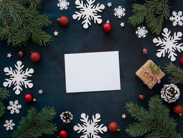 복사 공간 크리스마스 개념의 상위 뷰