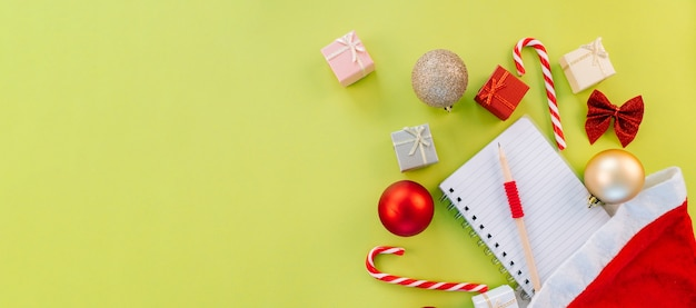 クリスマスの装飾の上面図
