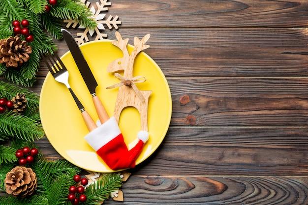 クリスマスディナーの上面図