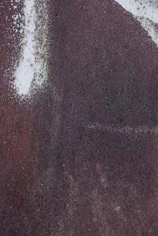 粗いさびた金属表面の上面図