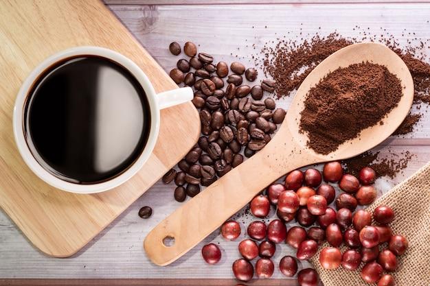 커피 컵의 평면도