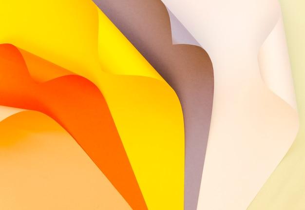 Вид сверху цветной бумаги