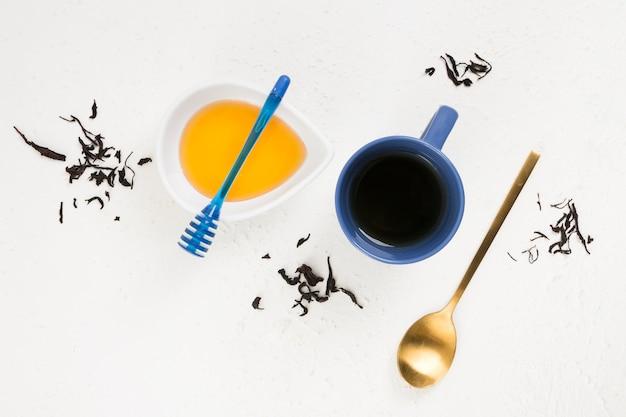 Вид сверху концепции вкусного завтрака