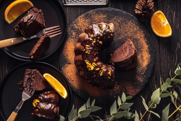 Вид спереди концепции вкусных пончиков