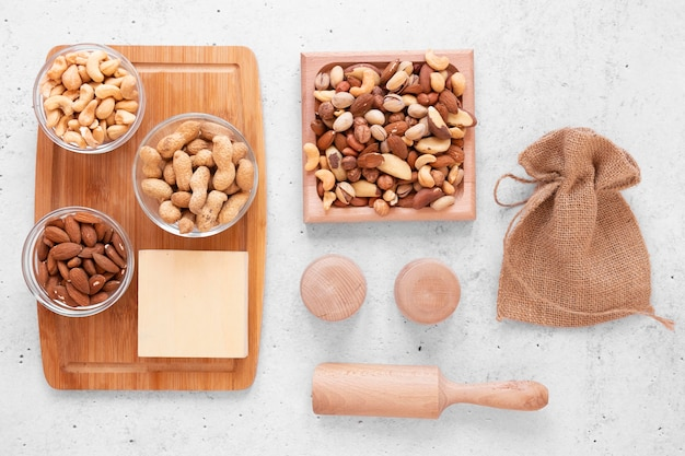 おいしいナッツの配置の上面図