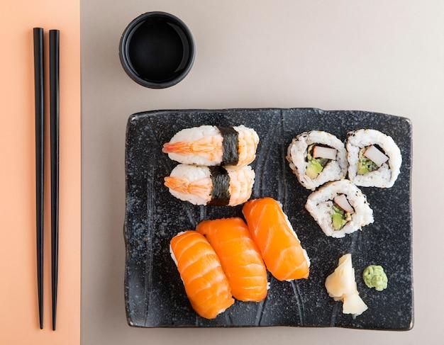 美味しいお寿司のコンセプトのトップビュー