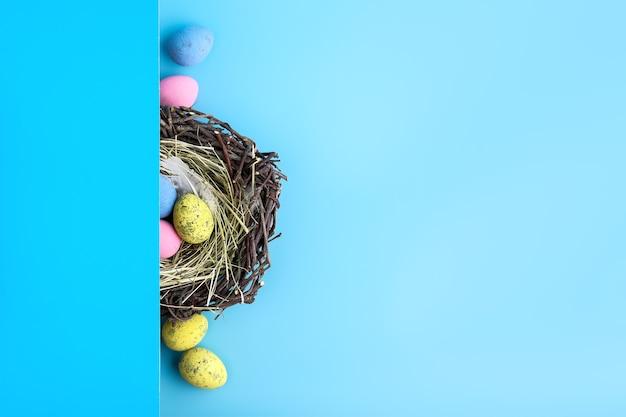 Вид сверху плоской планировки пасхального яйца