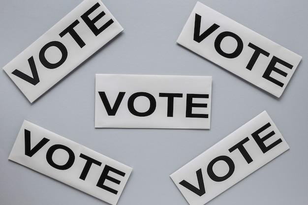 Вид сверху концепции голосования выборов