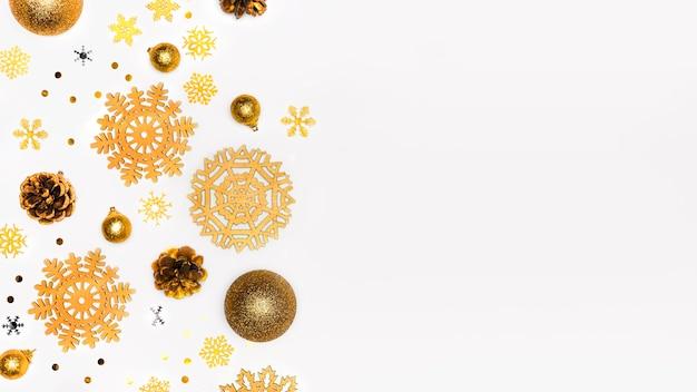 エレガントなクリスマスコンセプトの上面図