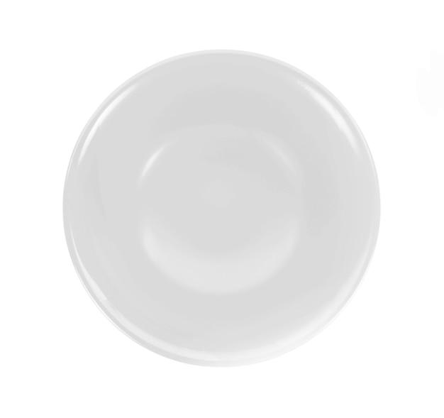 白の空のボウルの上面図