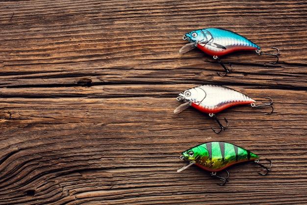 釣り餌とコピースペースのトップビュー