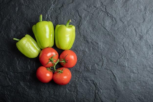 新鮮な野菜の上面図