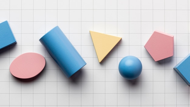 幾何学的形状の上面図