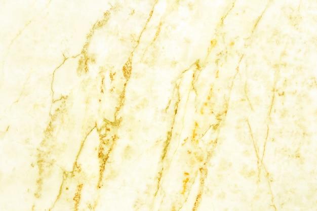 金の白い大理石のテクスチャ背景の平面図、