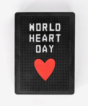 Вид сверху на всемирный день сердца