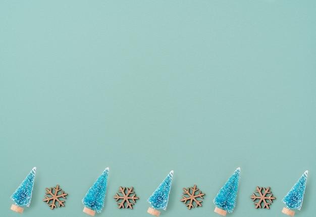 クリスマスツリーと休日のパターン構成の上面図