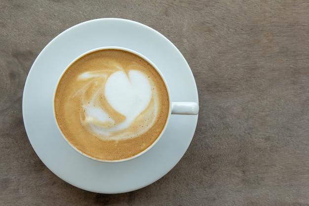 ホットコーヒーの上面図