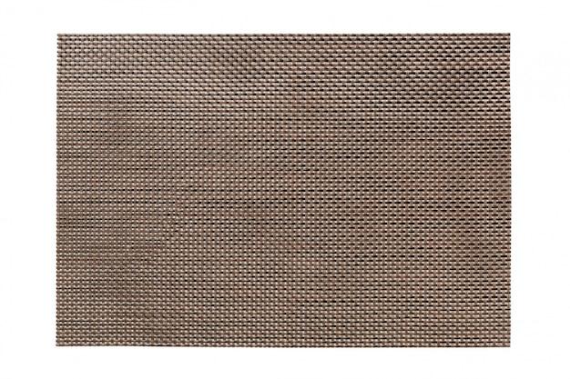 Взгляд сверху изолированного коричневого placemat для еды. пустое место для вашего дизайна