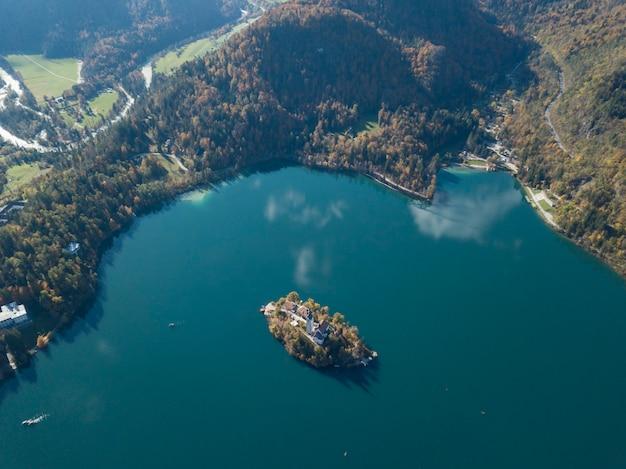 블레드 호수 슬로베니아의 상위 뷰