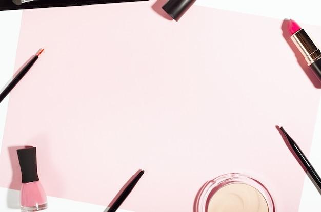 化粧品の上面図