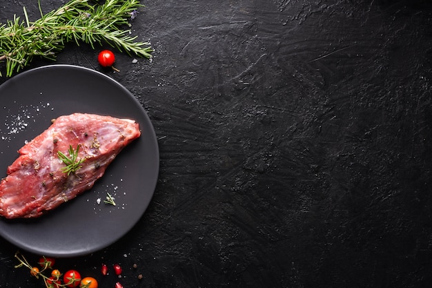 コピースペースと肉の概念の上面図