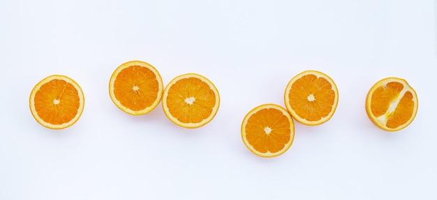 Вид сверху апельсиновых фруктов