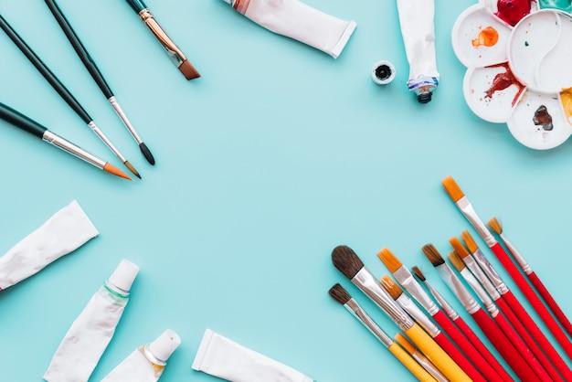 Copyspaceと塗料のトップビュー