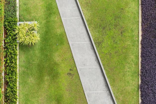 공원, 천연 잔디 질감의 상위 뷰