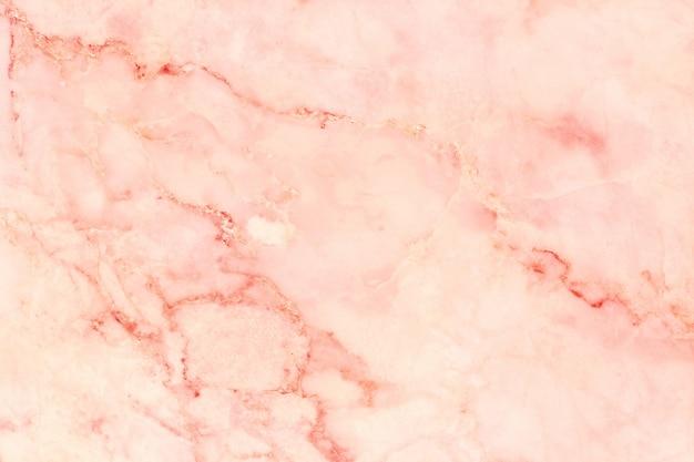 ローズゴールドの大理石のテクスチャ背景、自然なタイルの石の床の上から見る