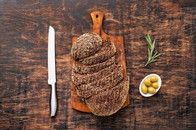 Вид сверху концепции семенного хлеба