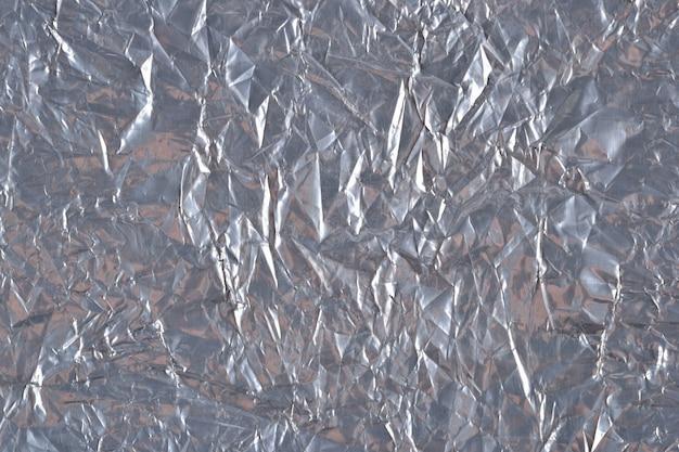 銀色の箔の背景テクスチャの上面図