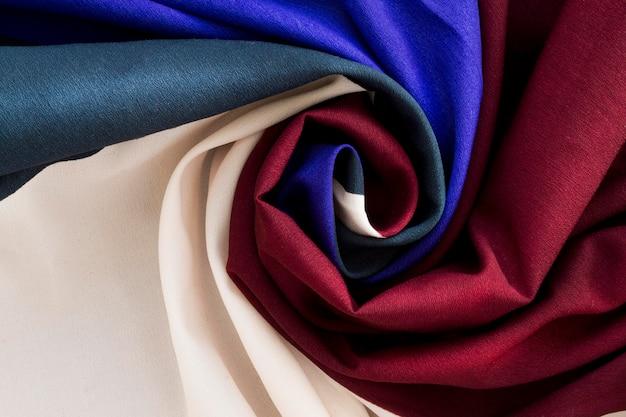 Вид сверху текстильного материала
