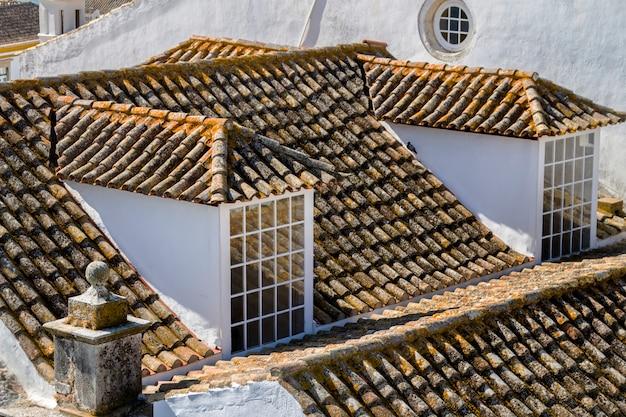 역사적인 오래 된 도시 파로, 포르투갈의 주요 교회의 상위 뷰.