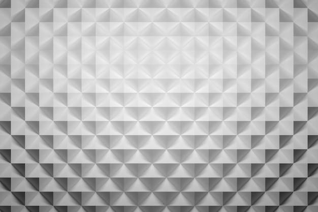 삼각 형상을 반복하는 피라미드가있는 표면의 평면도.