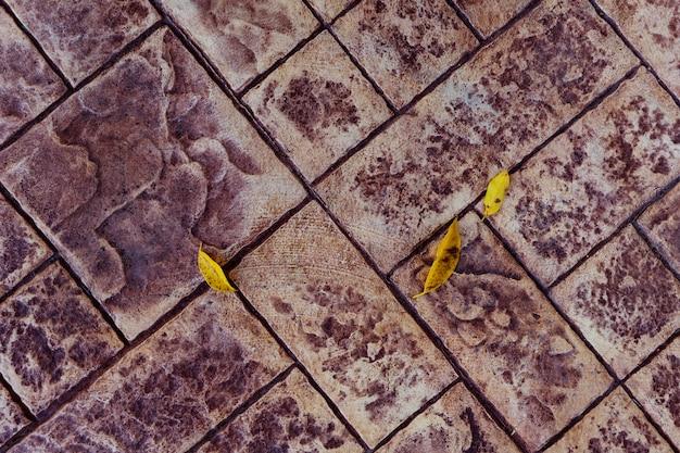 タイル張りの床の歩道の上から見る