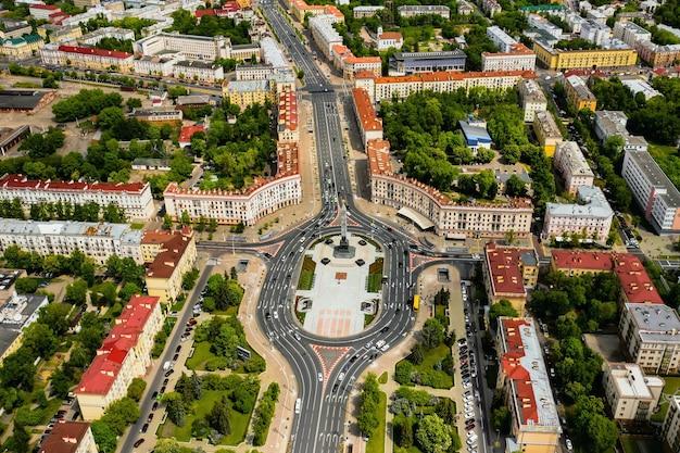 ミンスクの勝利広場の上面図。