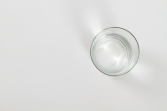 Top view of water glass