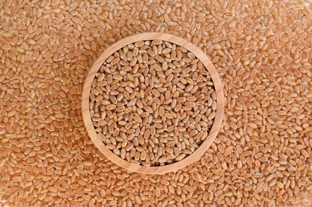 小麦粒の背景の上面図