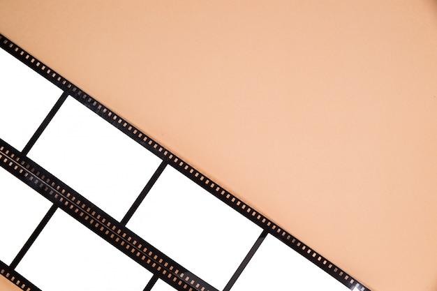 Вид сверху старой кинопленки