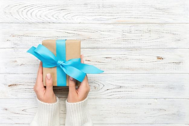 아름답게 포장 된 선물 상자의 평면도
