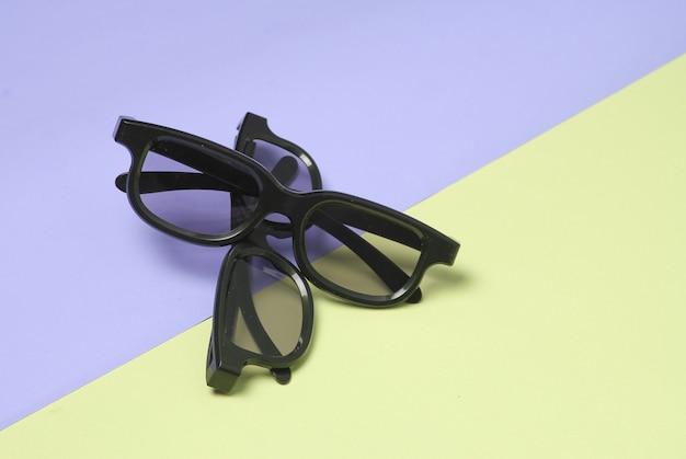 3 dメガネのペアのクローズアップのトップビュー