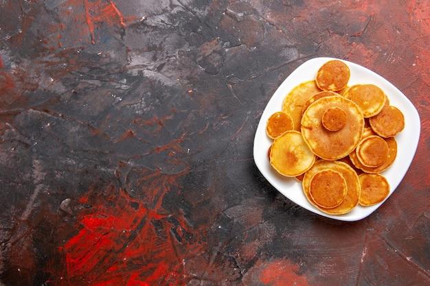 おいしいパンケーキパイルの上面図