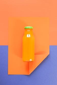 Top view orange smoothie