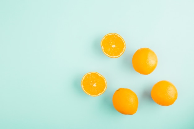 Top view oranges