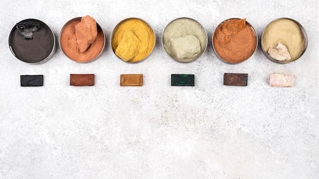 Пигмент органического красителя вид сверху