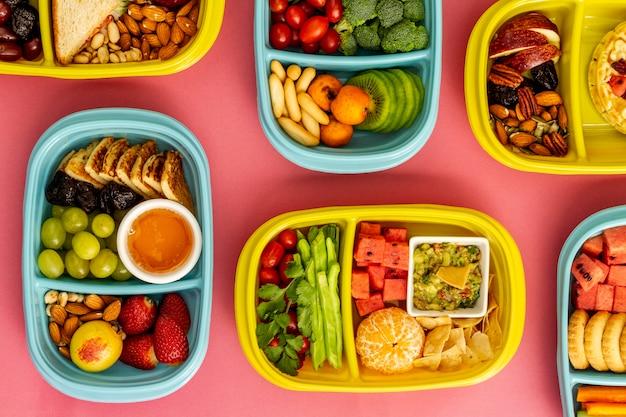 上面図パック食品の配置