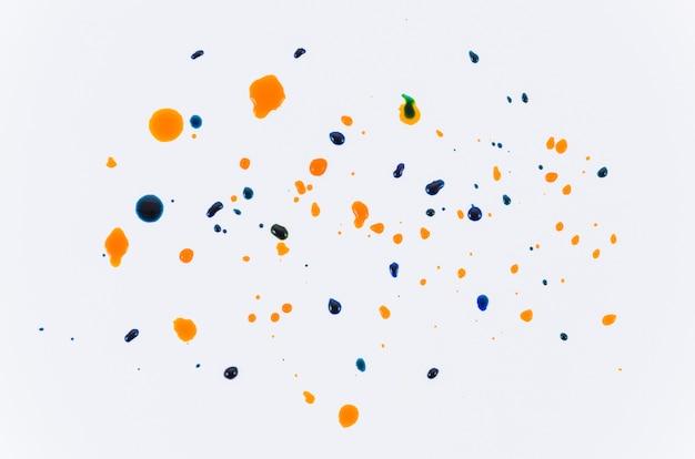 Top view paint drops