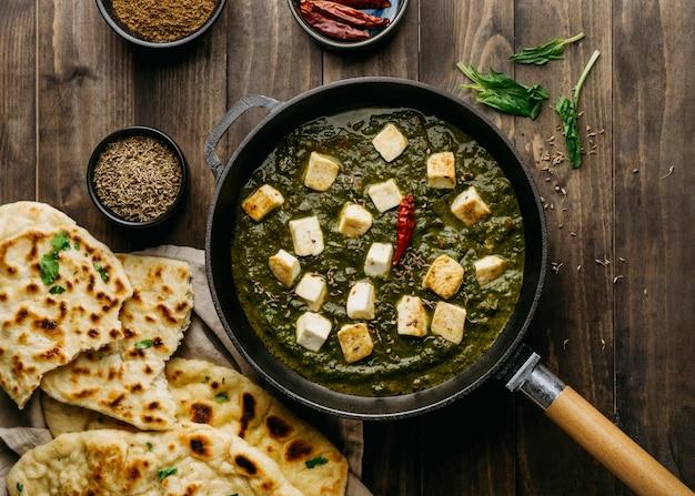 上面図パキスタン料理のアレンジメント