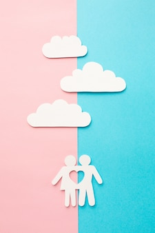 Top view paper cut family concept